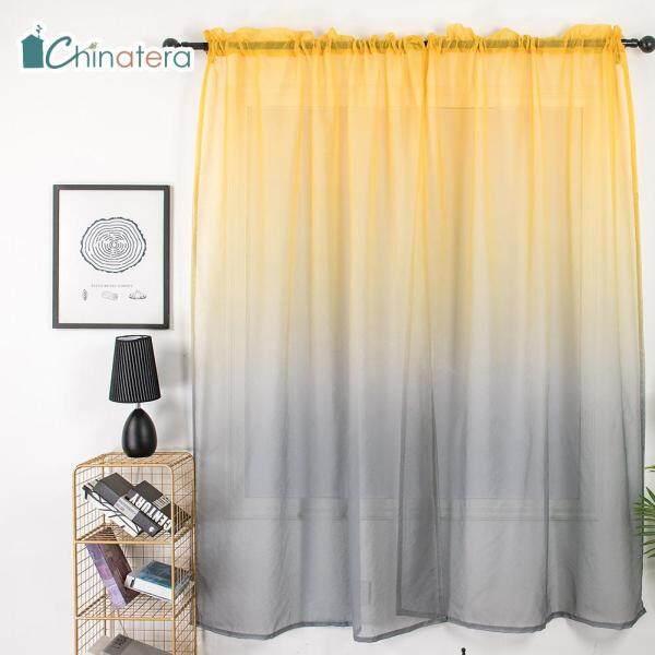 Rèm Cửa Sổ Vải Tuyn Mỏng Màu Chuyển Sắc, Tấm Trang Trí Nhà Cửa Phòng Ngủ Phòng Khách Phong Cách Bắc Âu