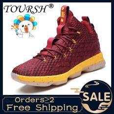 Giày sneaker thể thao cổ cao thích hợp chơi bóng rổ có đệm êm ái cho chân TOURSH