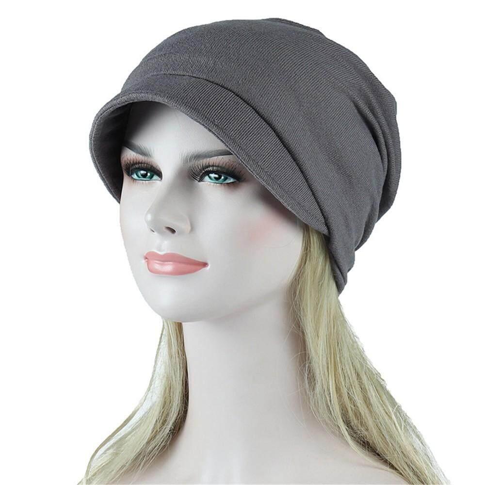 【muslim】 Auburyshop ผู้หญิง Soild อินเดียมุสลิมยึดโพกหมวก Camouflage ผมใส่ผ้าคลุมศีรษะ By Auburyshop.