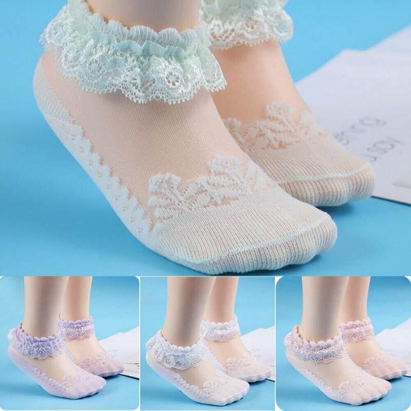 Baby Newborn Cotton Socks Lace Princess Combed Socks for Girls Infant Babe Socks