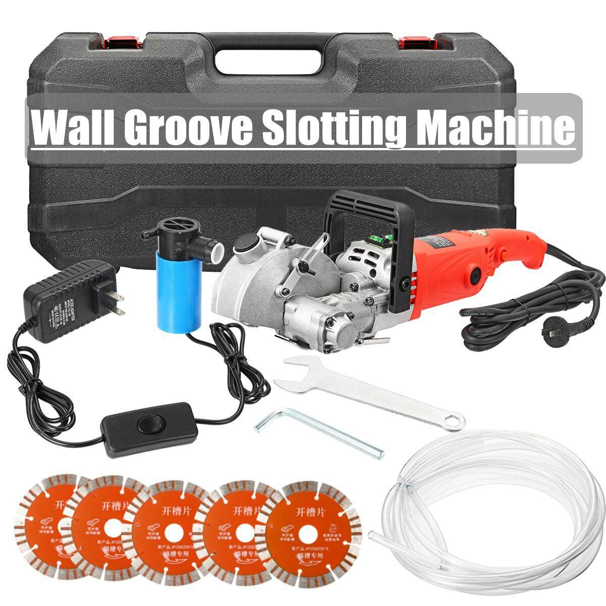 High quality Electric Wall Groove Cutting Slotting Machine 5800W 52MM Depth NEW
