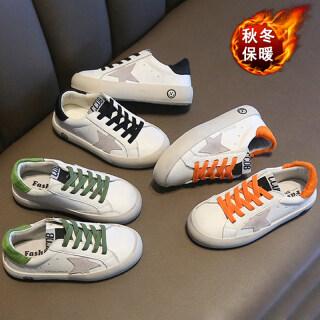 Baby Hàn Quốc Nam Nữ Trẻ Em Da Thật Giày Bẩn Nhỏ Noel Mẹ Và Con Gái Giày Trẻ Em Bé Trai Giày Trắng Trẻ Em Của Cha Mẹ Và Con Mịn Hơn Giày thumbnail