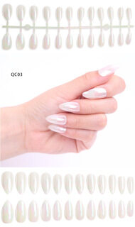 [Termasuk lem] Kuku palsu 24 pcs cermin ajaib nail art yang dapat dipakai kuku jadi dilepas thumbnail