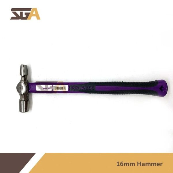 Prowess 16mm or 18mm Cross Pein Hammer With Anti Slip Handle Tukul