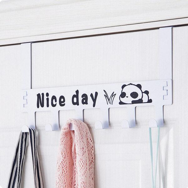 Removable Nail-free Traceless Door Rear Hook Door Back Hook Coat Hook Creative Cartoon Wall Hanging Door Hanger