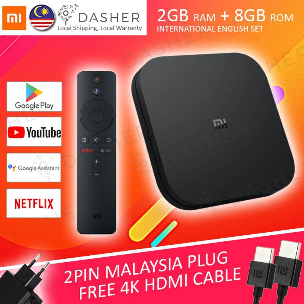 [GLOBAL VERSION] Xiaomi Mi Box S 4K HDR Mi TV Box Android TV Box Chromecast  2GB RAM + 8GB ROM 5G WiFi Android 8 1 ENGLISH UI