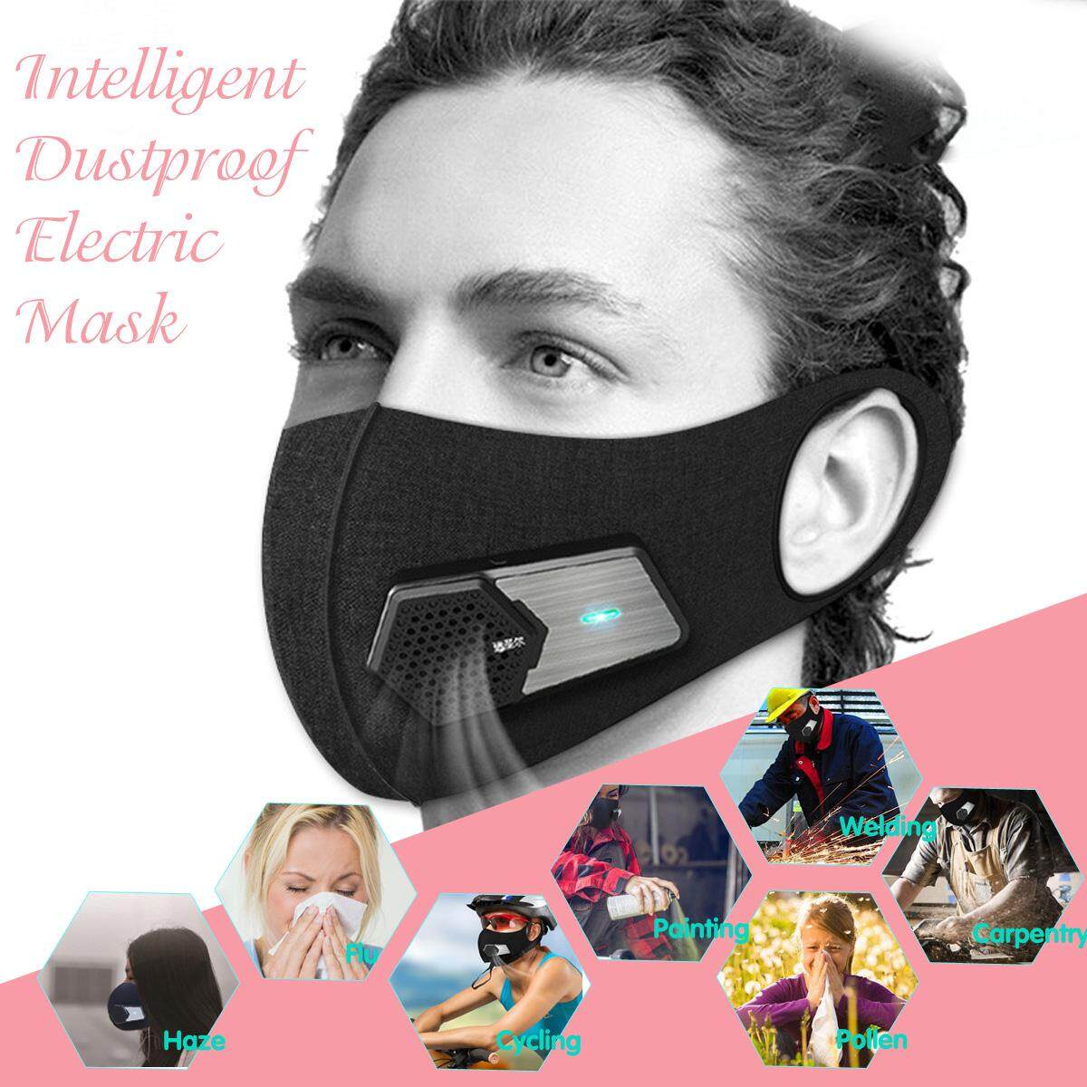 N95 Anti-dust Air Mask Smog PM2.5 Purifier Filter Rechargable Respirator Functions Anti-haze,Formaldehyde, Dust, Pollen, Electric, Air Supply