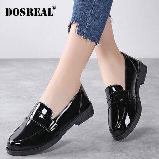 Dosreal Nữ Giày Oxford Bằng Sáng Chế Da Giày Phẳng Nền Tảng Slip On Nữ Giày Nữ Thoải Mái Thời Trang Cho Nữ thumbnail