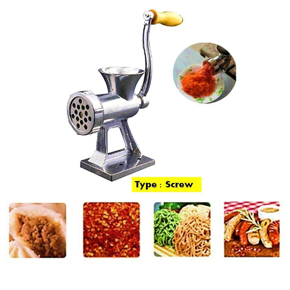 Aluminium Manual Meat Grinder Hand Operate By Zeppy Malaysia.