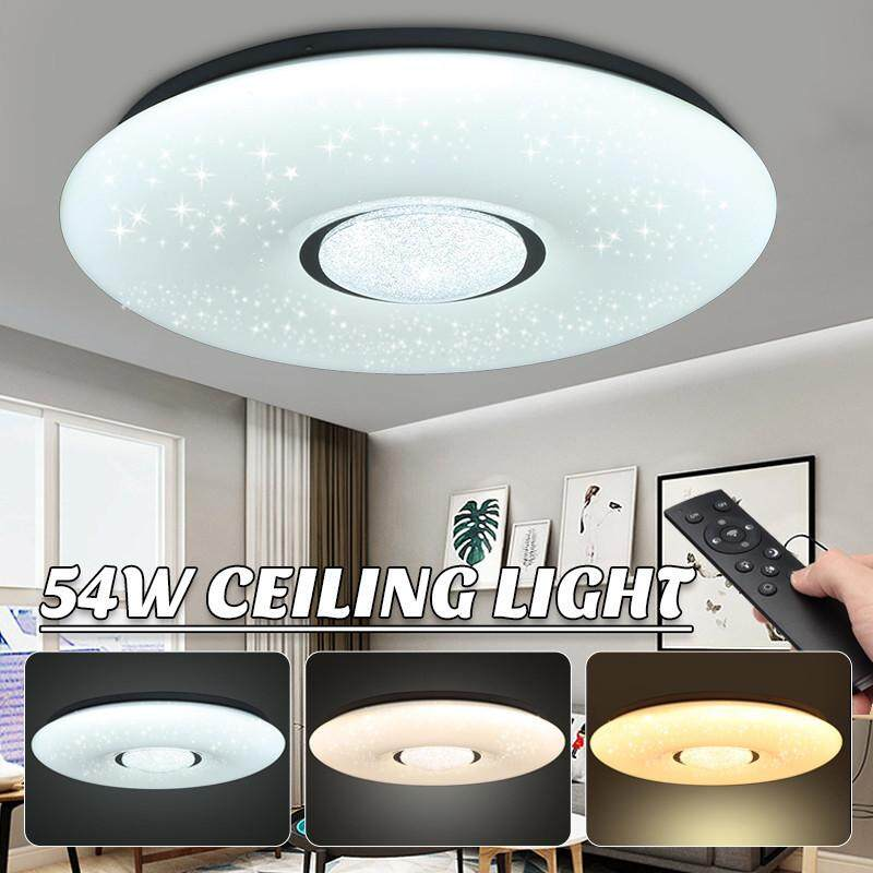 【Free Shipping + Flash Deal】 54W LED Dimmable Ceiling Lamp Down Light Flush Mounted Living Room With 2.4G Remote