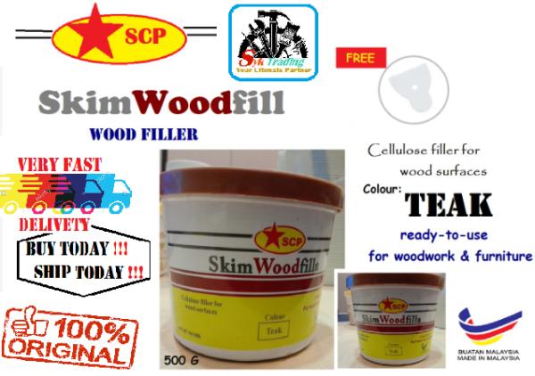SCP Teak Skim Wood Filler - 500g