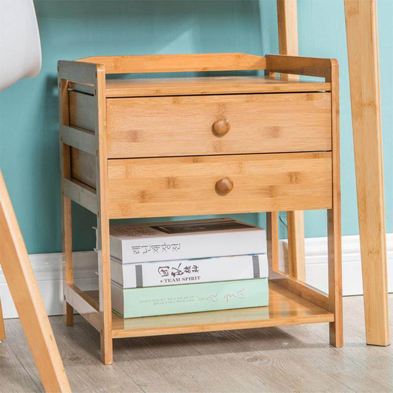 Bedside Table Bamboo Table For Bedroom By Olive Al Home