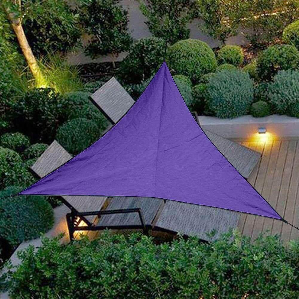 Outdoor Shade Sunscreen Waterproof Triangular UV Sun Shade Sail Combination Net Triangle Sun Sail Tent