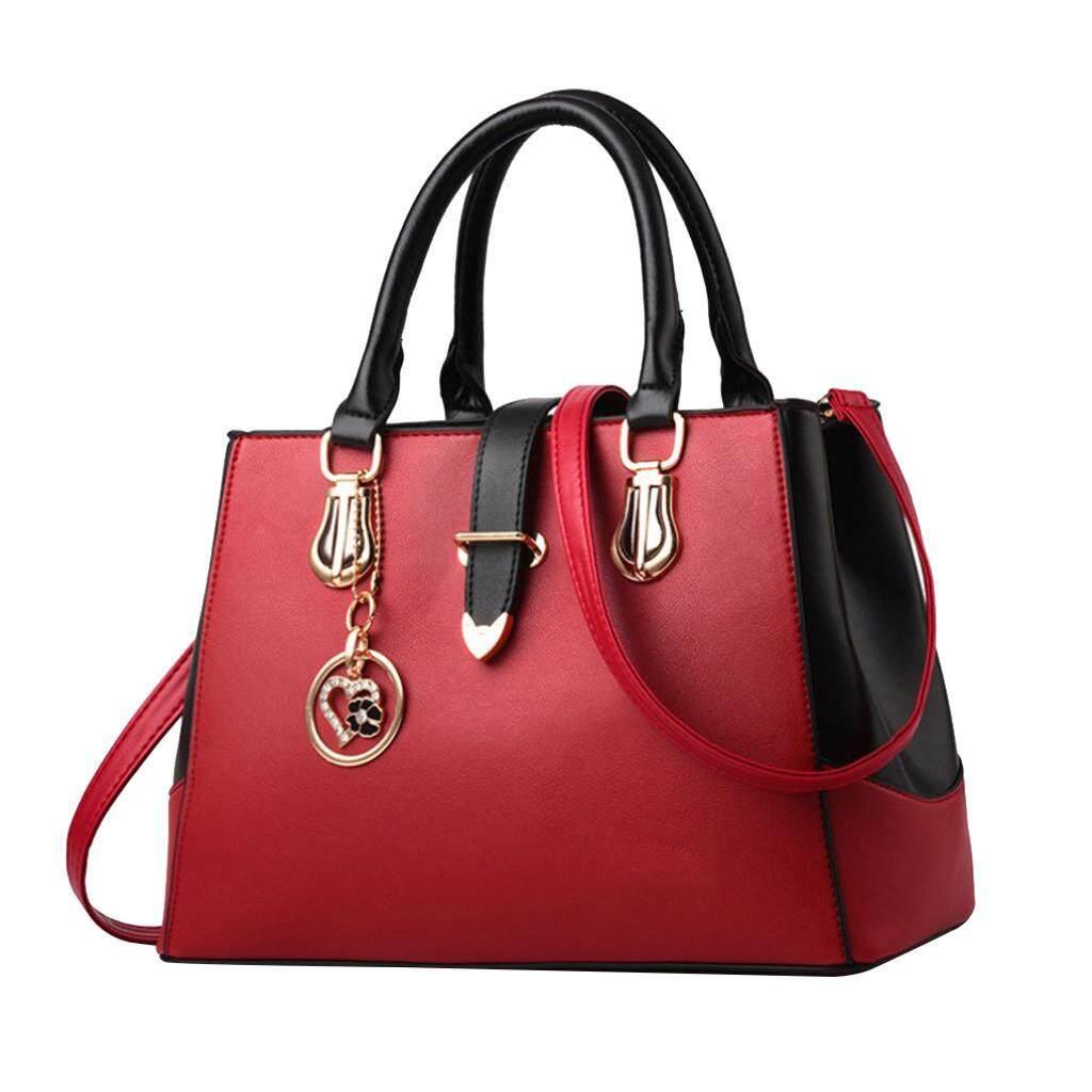 Women Zipper Ornaments Fashion Handbags Simple Shoulder Bag Hasp