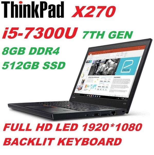 LENOVO THINPAD X270( INTEL CORE i5-7300U V PRO PROCESSOR/8GB DDR4 RAM/512GB SSD DRIVE/INTEL HD 620 GRAPHIC CARD/BUILT IN WEB CAM/WIFI/WIN 10 PRO(REFURBISHED) Malaysia