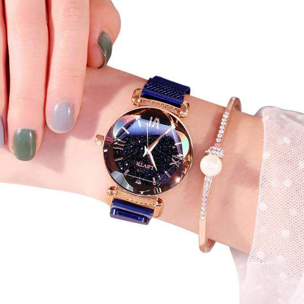 Sanwood® Fashion Women Waterproof Magnetic Starry Roman Numbers Analog Quartz Wrist Watch Malaysia