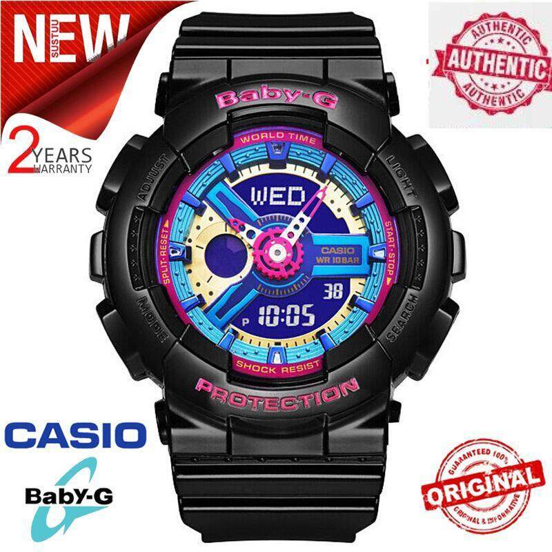(Flash Deal) Original_Casio Baby-G BA-112-1A Men Sport Watch Shockproof and Waterproof World Time LED Auto Light Wrist Sports Watches with 2 Year Warranty BA112/BA-112 Malaysia
