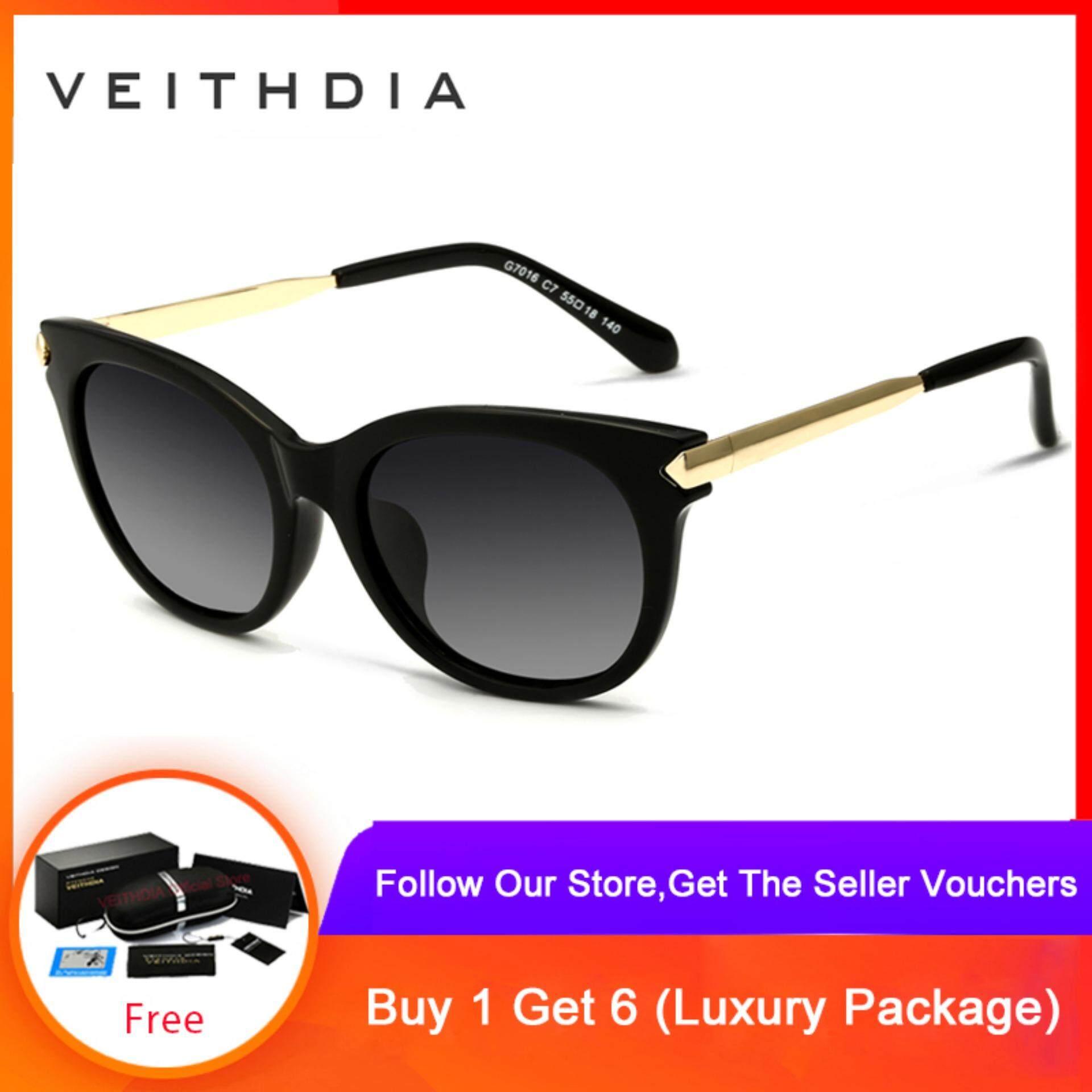 9601a70fa2fa3 VEITHDIA TR90 Sunglasses Polarized Cat Eye Ladies Designer Women Sunglasses  Eyewear Accessories Female 7016