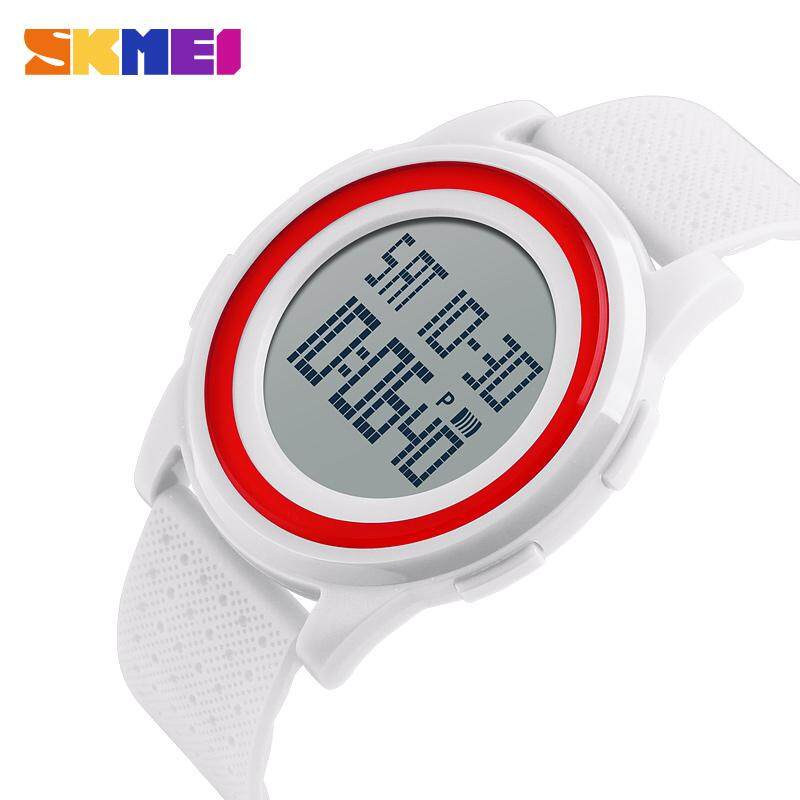SKMEI Original Brand Fashion Casual Watch Male Women Soft Band Thin Waterproof Digital Student Sports Electronic Clock Shockproof Waterproof Alarm Watches Malaysia