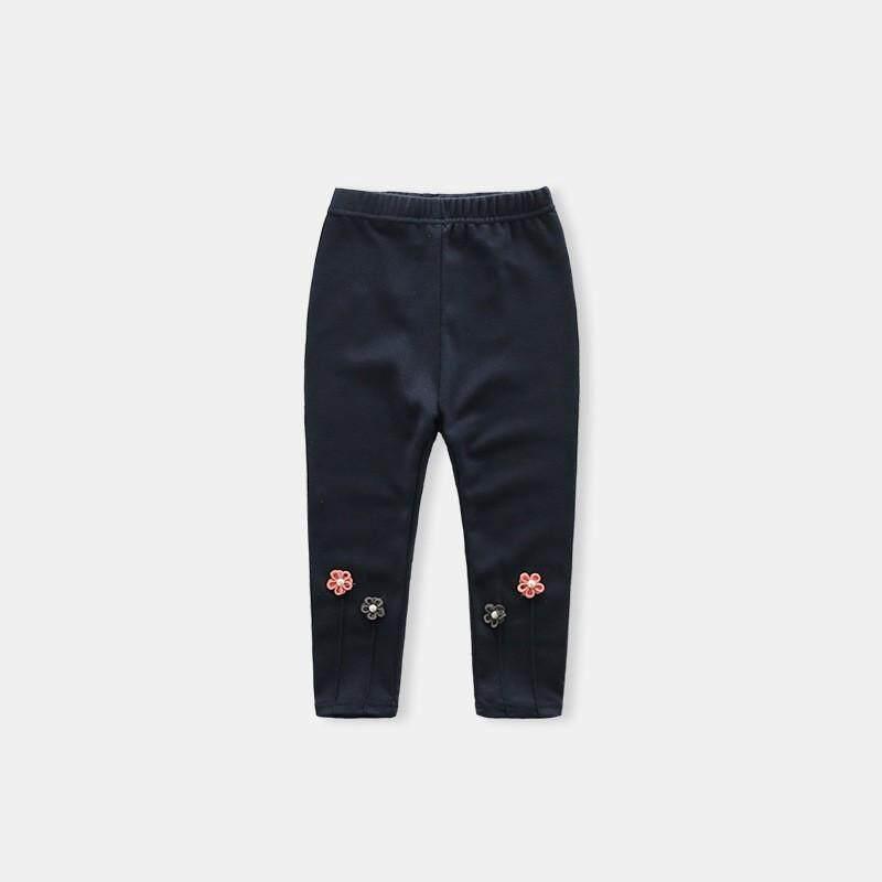 219d1991374 Fashion Girls Small Flower Embroidered Leggings Children Leggings Pants  Baby Kids Clothing