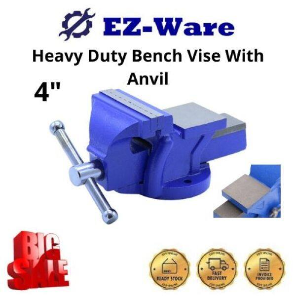 4 Inch Heavy Duty Bench Vise With Anvil