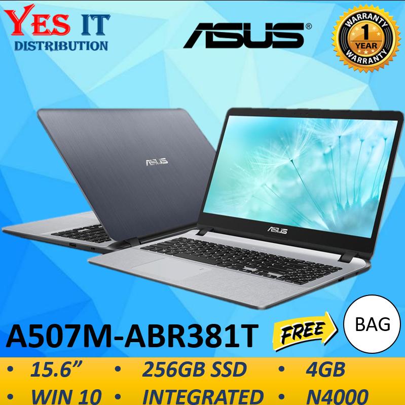 Asus Vivobook A507M-ABR381T 15.6 Laptop Grey ( Celeron N4000, 4GB, 256GB, Intel, W10 ) Malaysia