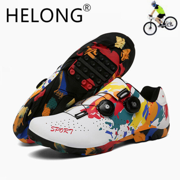 Giày thể thao đạp xe dành cho nam HELONG size 36-47 màu sắc nổi bật trẻ trung chất liệu mềm êm chân thoáng khí giá rẻ