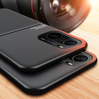 Thinmon Cho Xiaomi POCO F3 Redmi Ốp Điện Thoại Đứng Từ Tính Mờ K40 K40 Pro 5G, Ốp Lưng Mềm Ốp Điện Thoại Chống Rơi thumbnail