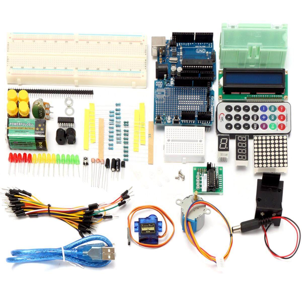【Free Shipping + Flash Deal】Ultimate Learning Starter Kit For Arduino UNO R3 1602 LCD Servo Motor Relay US