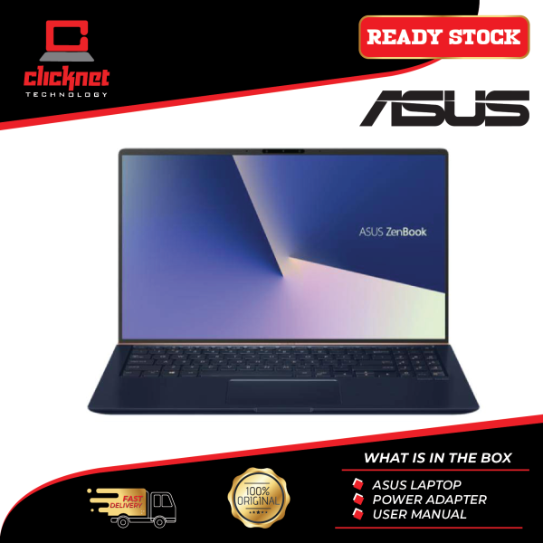 Asus Laptop Zenbook UX434F-LCA6475T 14 FHD Royal Blue (i5-10210U, 8GB, 512GB SSD, MX250 2GB, W10) Malaysia