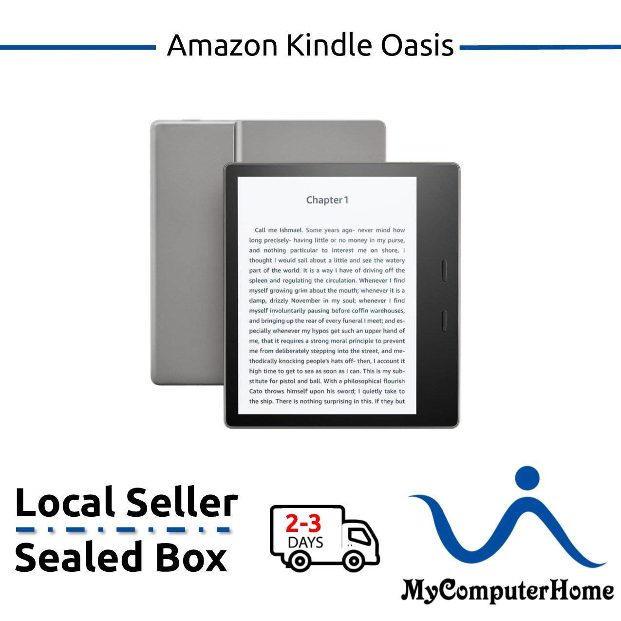 Amazon Kindle Oasis E-reader, 8 GB, Wi-Fi - Includes Special Offers  (Graphite)
