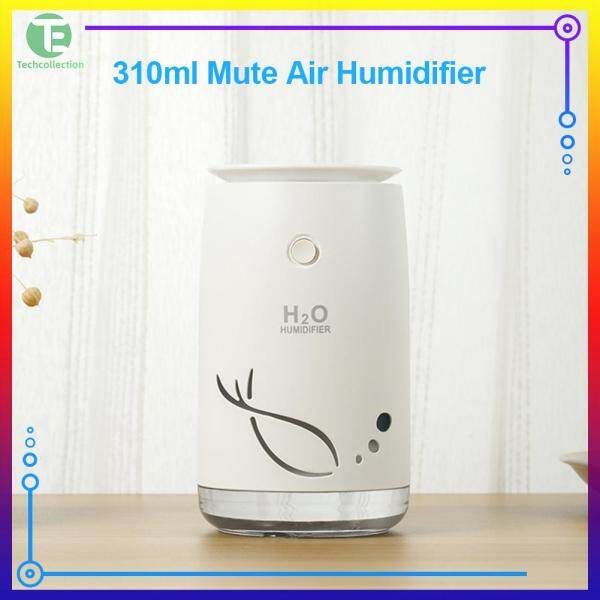 Portable USB Air Humidifier 310ml Mute with Color Night Light for Car Home Office Singapore