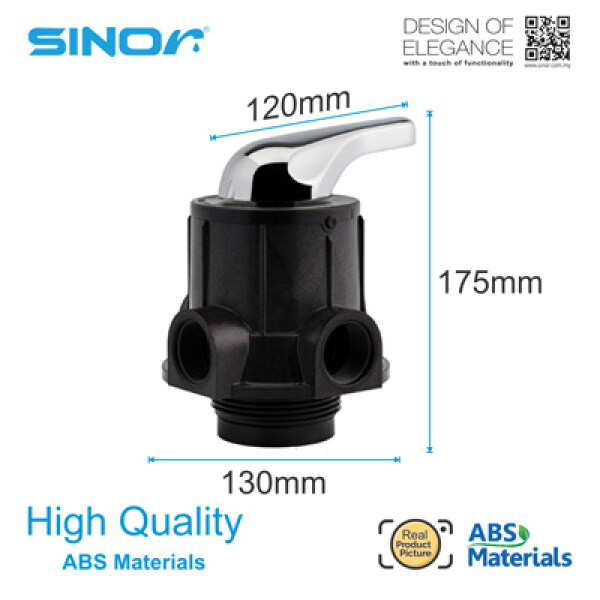 Sinor WFA-FHV-50 ABS Water Filter Head Valve