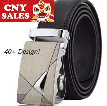 Clearance Sale  Mens Genuine Automatic Buckle Belt   Slimming Business  Black   Authentic Cowhide b2e0f1bffea