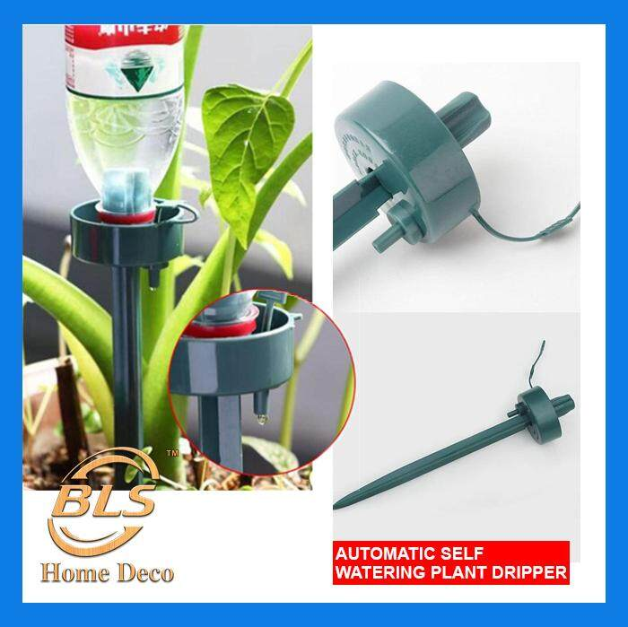 [CNY Flash Sale] Automatic Self Watering Device Drip Dripper Water Spikes Flower Plant Bottle Irrigation Garden