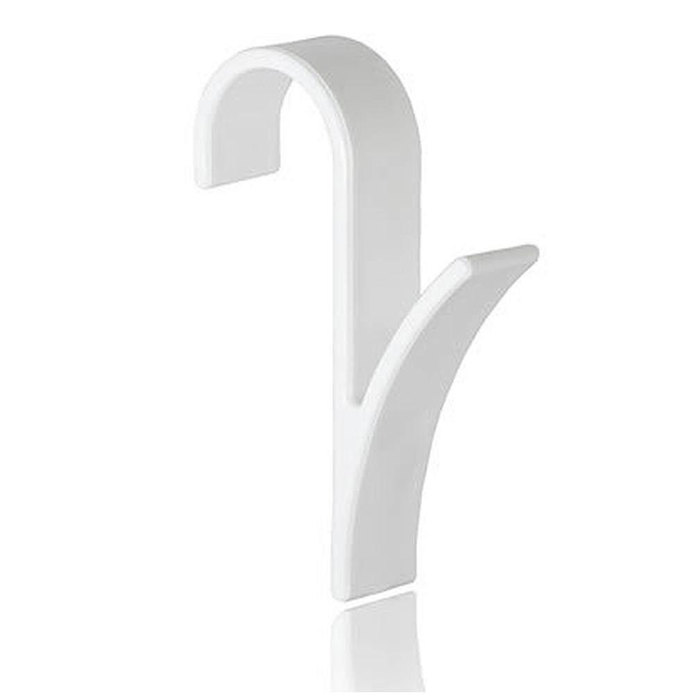 6pcs Home Door Cloth Hanger Organizer Towel Plastic Bathroom Storage Shower Kitchen
