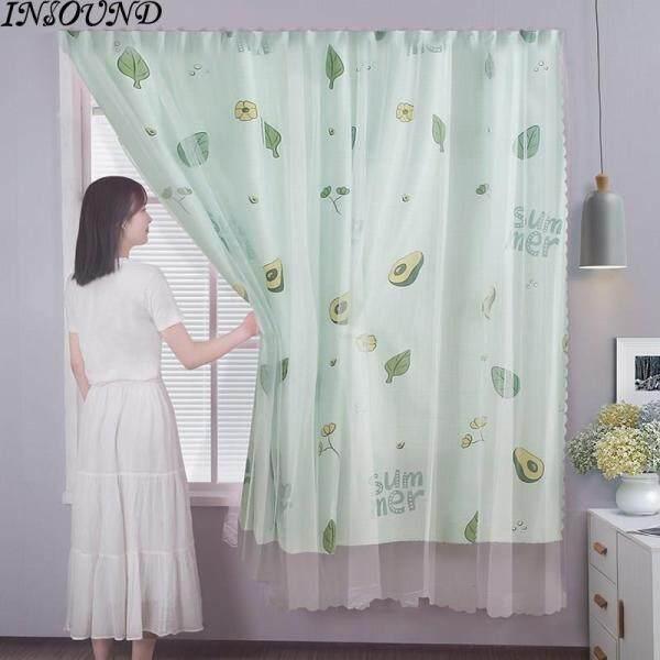 INSOUND Không Khoan Velcro Shading Rèm Phòng Khách Phòng Ngủ Phong Cách Bắc Âu Trang Trí Nội Thất Cửa Sổ Rèm Cửa Dễ Dàng Cài Đặt Rèm