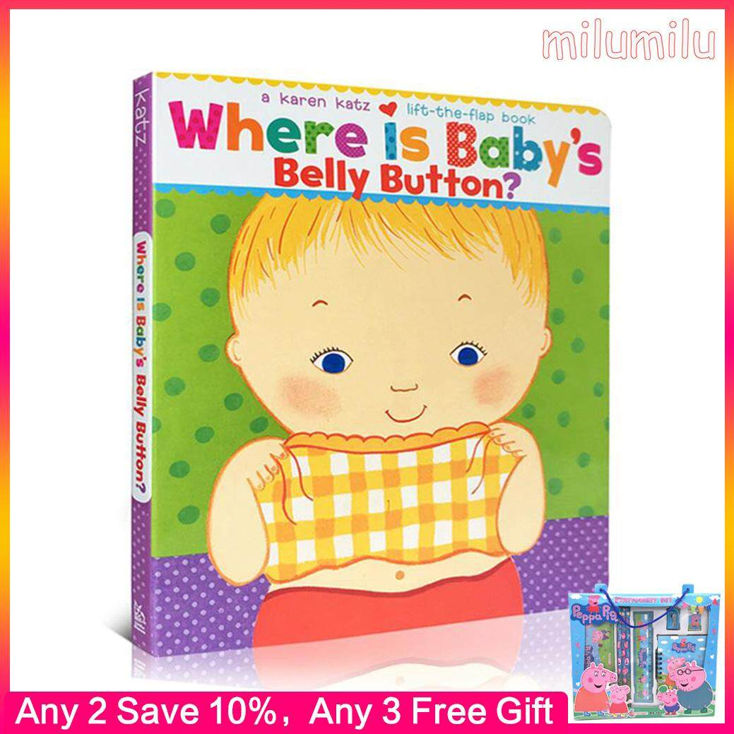 【 Free Audio 】Where Is Babys Belly Button Karen Katz Cardboard To Flip Through The Books 0-two-three-four - Five Years Old Children Enlightenment Picture Books