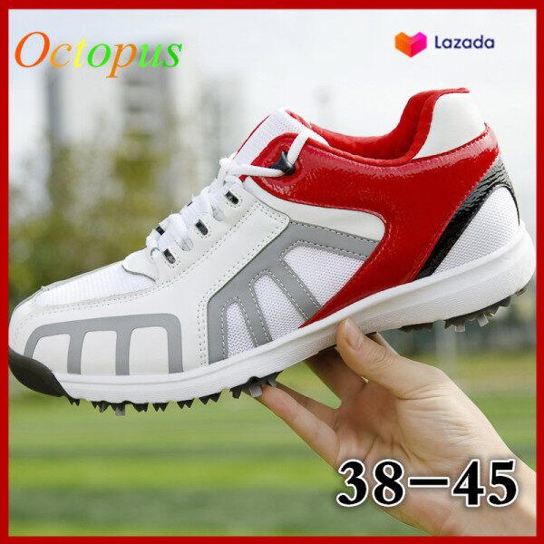 BẠCH TUỘC Chất Lượng Cao Golf Giày Giày Kích Thước Lớn 38-45 Người Đàn Ông Của Ngoài Trời Trọng Lượng Nhẹ Và Giày Lưới Thoáng Khí Có Thể Tháo Rời Chống-TRƯỢT Hoạt Động Spike Golf Chuyên Nghiệp Đào Tạo Giày