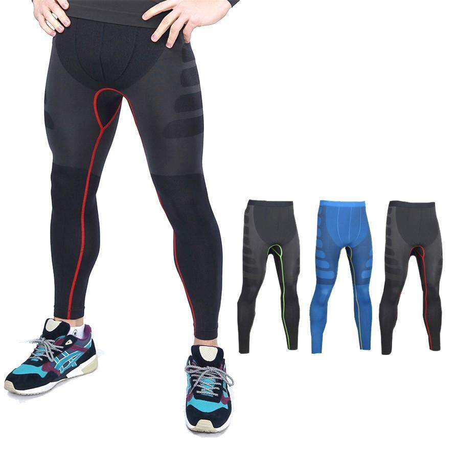 #READY STOCK# Men Sportwear Compression Long Pants Under Tight Fitness GYM MA05 MB