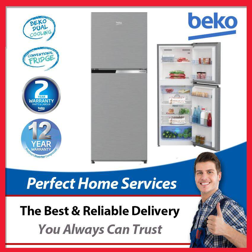 Beko New 270L (RDNT271I50VZS) Pro Smart Inverter Fridge with Twin Digital Cooling Refrigerator, Express Direct Shipping Within Klang Valley