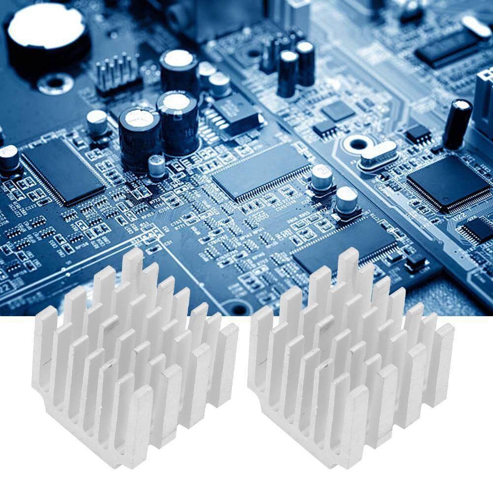 (Gold Certified Qianmei)10pcs P14.5*13*14 White Aluminum Cooling Fin Heat Sink Cooler for CPU Chip