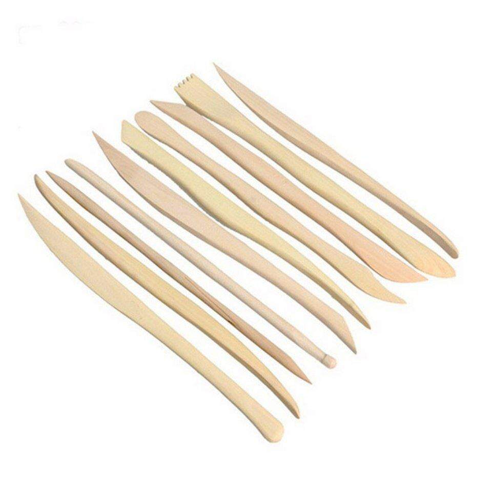 Mua Best Sellers 10PCS DIY Wooden Clay Sculpture Kni*fe Pottery Sharpen Modeling Tools Set