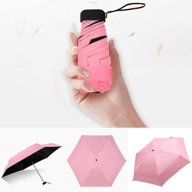 Sun Umbrella 5 Folding Mini Pocket Umbrella Women Small Umbrellas Parasol Girls Anti-UV Waterproof Portable Ultralight Travel