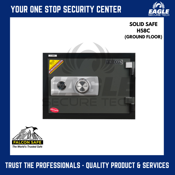 Falcon Safe Combination Digital Solid Fire Proof Safe Box ( H58C or H58E )
