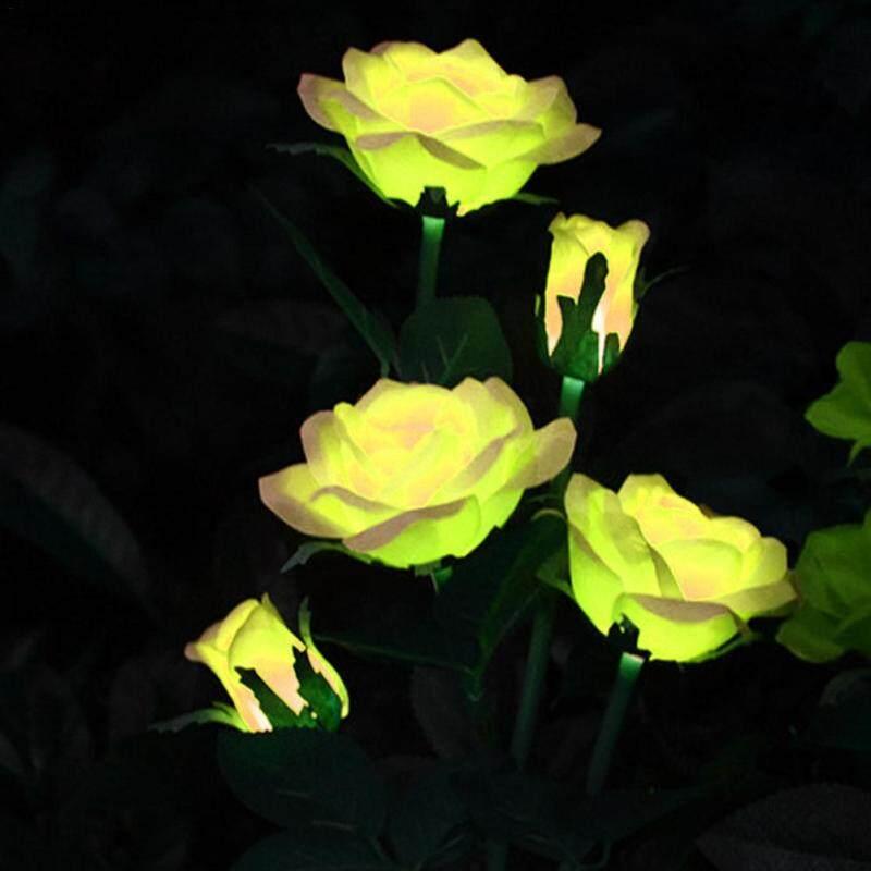 Năng Lượng Mặt Trời Bông Hoa Hồng Lights Đèn LED Chống Nước Đèn Thảm Cỏ Đối Với Ngoài Trời Vườn Hiên Sân Sau Trang Trí
