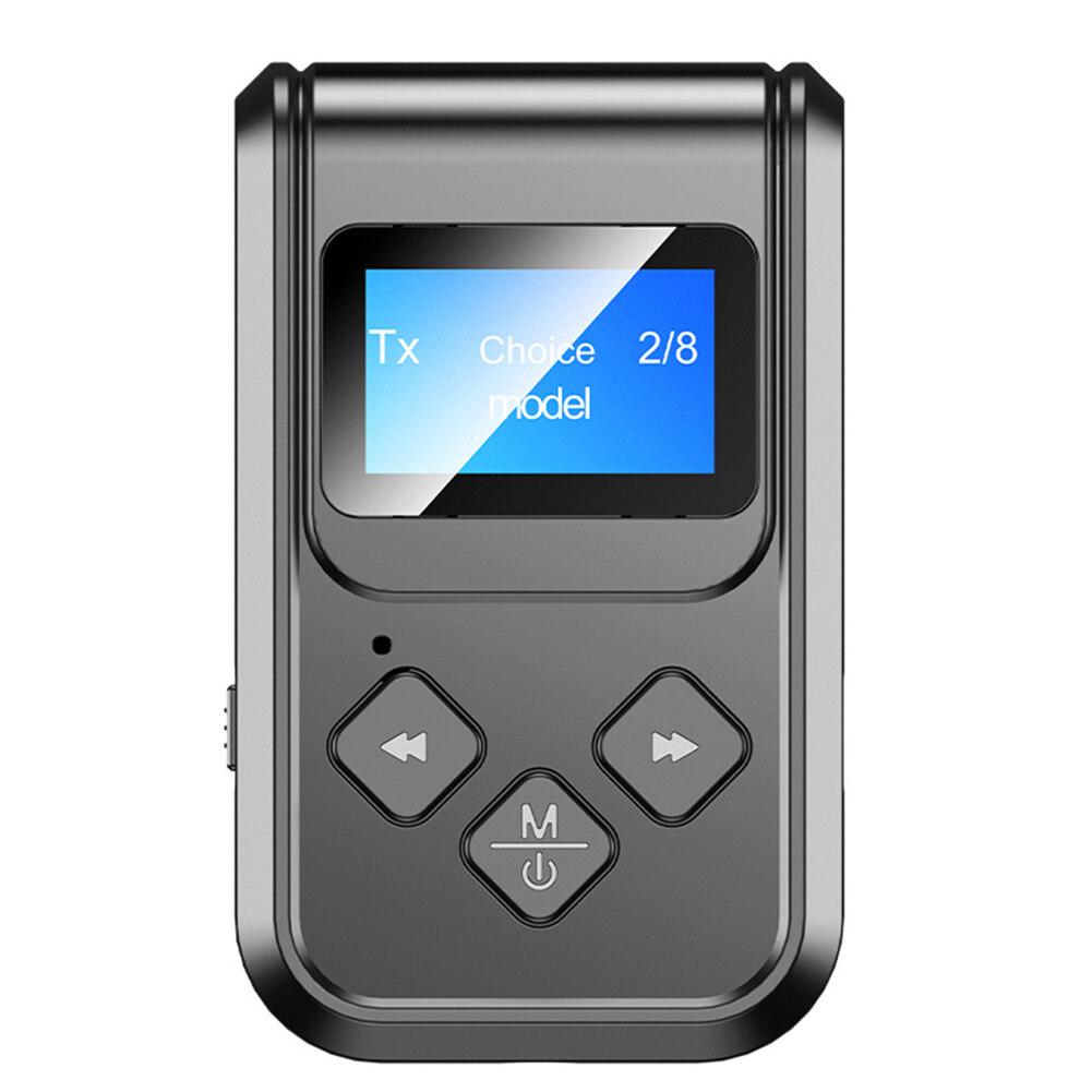 Bộ Thu Phát Bluetooth 5.0 Màn Hình LCD Cuộc Gọi Rảnh Tay Âm Thanh AdapterBluetooth 5.0 Bộ Chuyển Đổi Âm Thanh, Màn Hình Lcd Nhận Và Phát Bluetooth Rảnh Tay 2 Trong 1