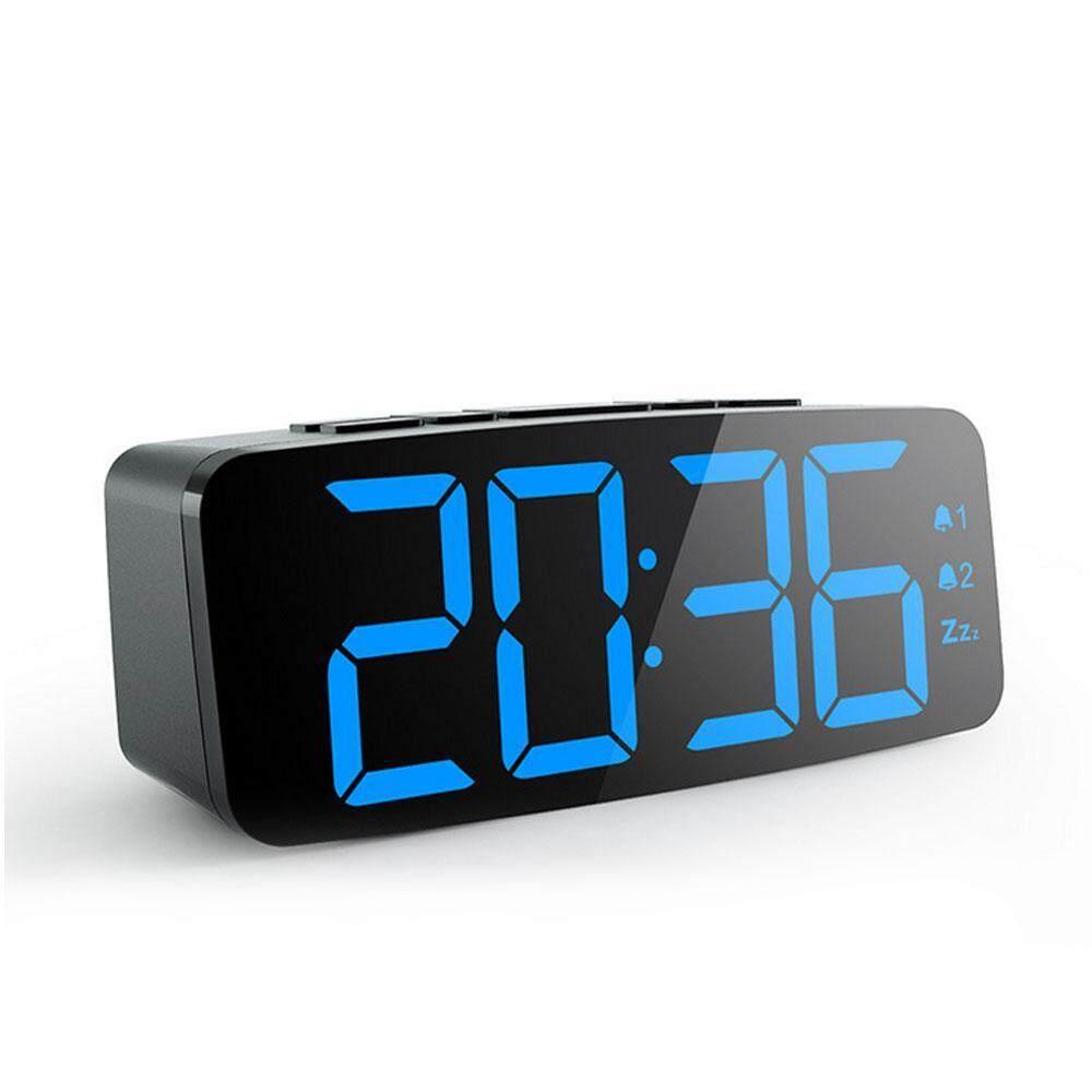 BuyBowie Digital Radio Alarm Clock,Adjustable Display Brightness and Volume,Home Desktop Large Screen Clock