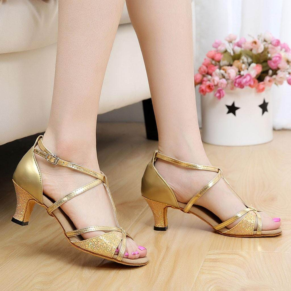 Other New Sexy High Heels Sandals Women Ladies Dancing Rumba Waltz Prom Ballroom Latin Salsa Dance Big Size Singles Shoes 10 Without Return