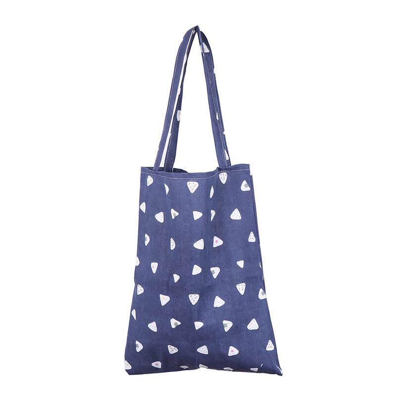 Aliname รูปแบบน่ารักกระเป๋าผ้าลินินกระเป๋าโท้ทพับได้ช้อปปิ้งผ้าใบกลางแจ้งกระเป๋าสะพายไหล่ By A-Liname.